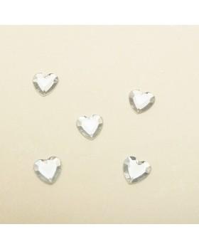 Petit cœur strass (50 pcs)