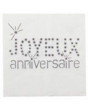 Serviette de table anniversaire (20 pcs)