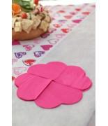 20 Petites serviettes de table cœur