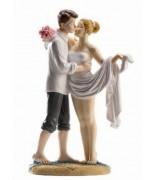 Statue Couple Mariés Plage