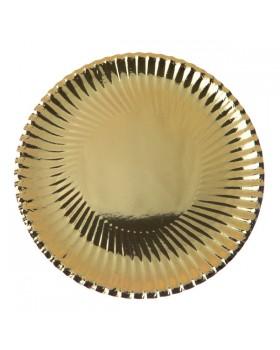 Assiette métallique (10 pcs)