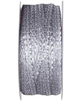 25 m Ruban métal Argent