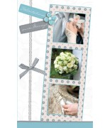 Carte mariage turquoise