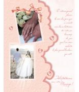 Carte mariage Découpe
