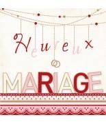 Carte mariage Heureux mariage