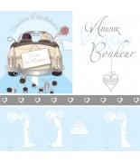 Carte mariage voiture bonheur
