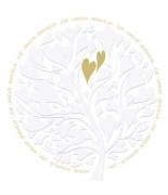 Carte mariage arbre coeur