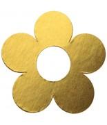 10 Marque-places fleur métallisé