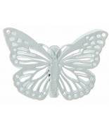 4 Papillons sur pince blanc