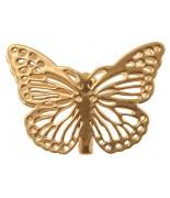 4 Papillons métal sur pince Or