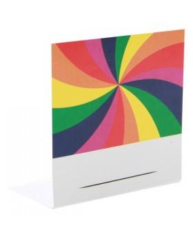 10 Marque-places Arc en ciel multicolore