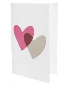 10 Cartes Coeurs rose