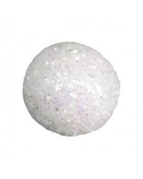 50 Mini boules pailletées blanc