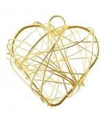 6 Petits cœurs métal Or