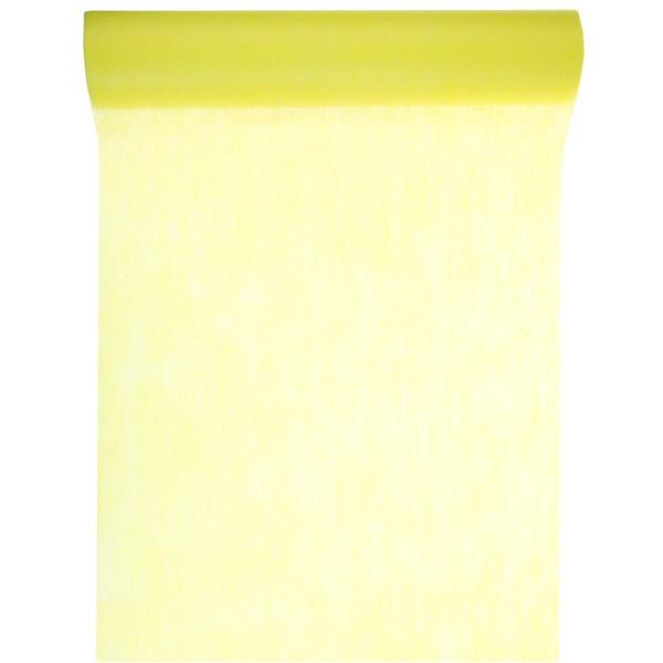 10 m chemin de table intiss uni jaune nappage mariage for Chemin de table jaune