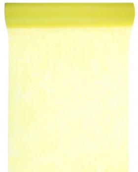 10 M x 60 cm Chemin de table intissé uni jaune