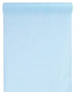 10 M x 60 cm Chemin de table intissé uni bleu ciel