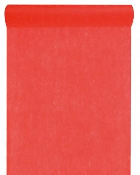 10 M Chemin de table intissé uni Rouge