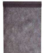 10 M x 60 cm Chemin de table intissé uni noir
