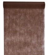 10 M x 60 cm Chemin de table intissé uni Chocolat