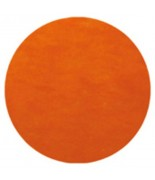50 Sets de table rond uni Orange
