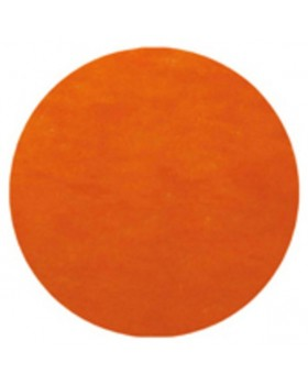 50 Sets de table rond uni Orange