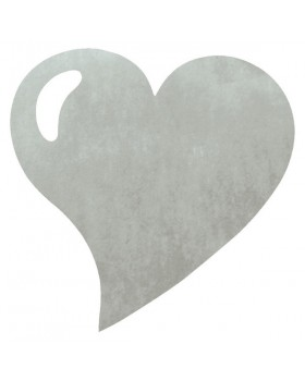 50 Sets de table cœur Gris