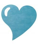 50 Sets de table cœur Turquoise