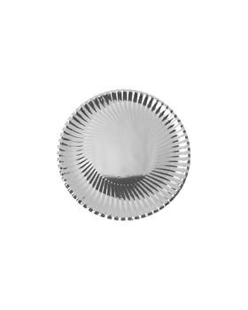 10 Assiettes métallique Argent