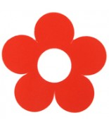 10 Marque-places fleur Rouge