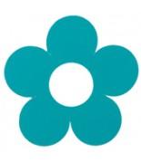 10 Marque-places fleur Turquoise