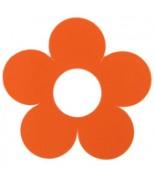 10 Marque-places fleur Orange