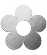 10 Marque-places fleur métallisé Argent