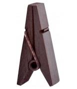 12 Pinces pyramide Chocolat