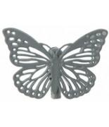 4 Papillons sur pince Gris