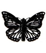 4 Papillons sur pince Noir