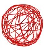 12 Petites boules métal rouge