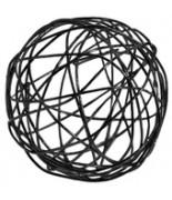 12 Petites boules métal noir