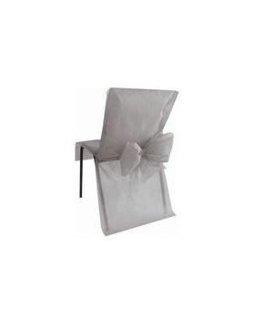 10 Housses de chaise avec noeud Gris