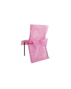 10 Housses de chaise avec noeud Rose