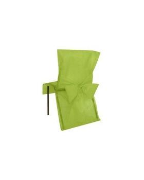 10 Housses de chaise avec noeud Vert