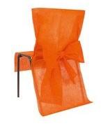 10 Housses de chaise avec noeud Orange