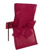 10 Housses de chaise avec noeud Bordeaux