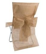 10 Housses de chaise avec noeud Taupe