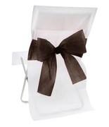 10 Housses de chaise noeud bicolore Noir