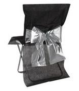 4 Housses de chaise noeud bicolore métalissé Noir