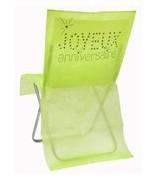 6 Housses de chaise anniversaire Vert