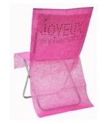 6 Housses de chaise anniversaire Fuchsia