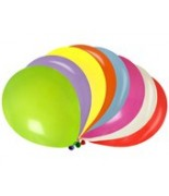 100 Ballons opaque multicolore