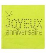 20 Serviettes de table anniversaire Vert